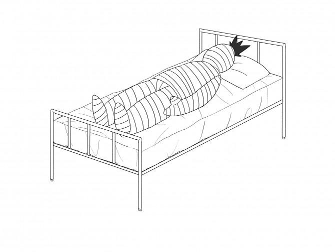 14包帯ぐるぐる巻きでベッドに横たわる探索者